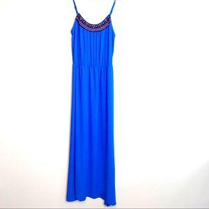 Eight Sixty royal blue maxi dress, Size M